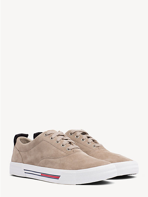 TOMMY JEANS City Suede Lace-Up Trainers - COBBLESTONE - TOMMY JEANS VACATION - main image