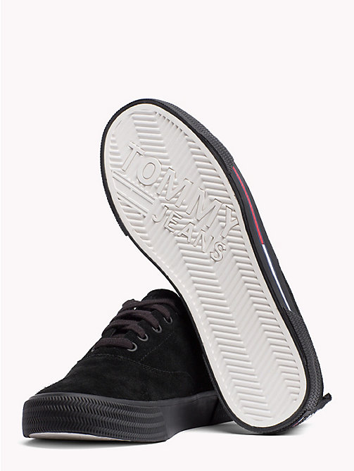 TOMMY JEANS City Suede Lace-Up Trainers - BLACK - TOMMY JEANS Shoes & Accessories - detail image 1