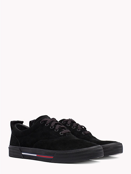 TOMMY JEANS City Suede Lace-Up Trainers - BLACK - TOMMY JEANS Shoes - main image