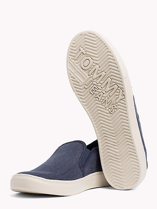 TOMMY JEANS Lightweight Signature Slip-Ons - BLACK IRIS - TOMMY JEANS Summer shoes - detail image 1