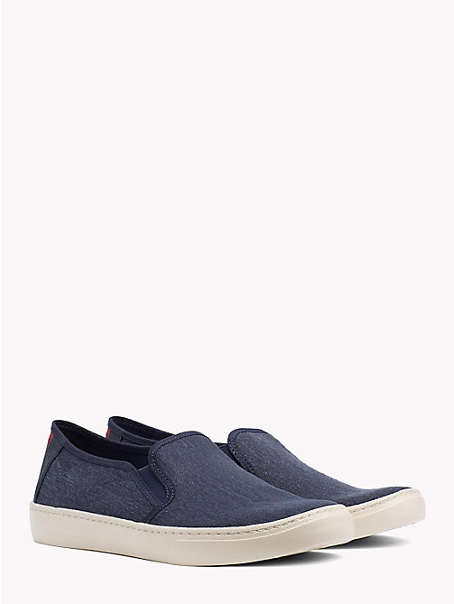 TOMMY JEANS Lightweight Signature Slip-Ons - BLACK IRIS - TOMMY JEANS Summer shoes - main image