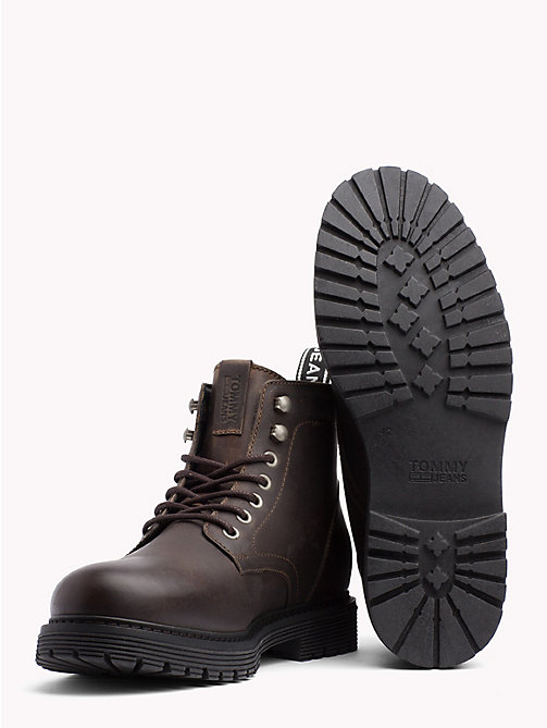 TOMMY JEANS Tommy Jeans Lace-Up Boots - WINTER COGNAC - TOMMY JEANS VACATION - detail image 1