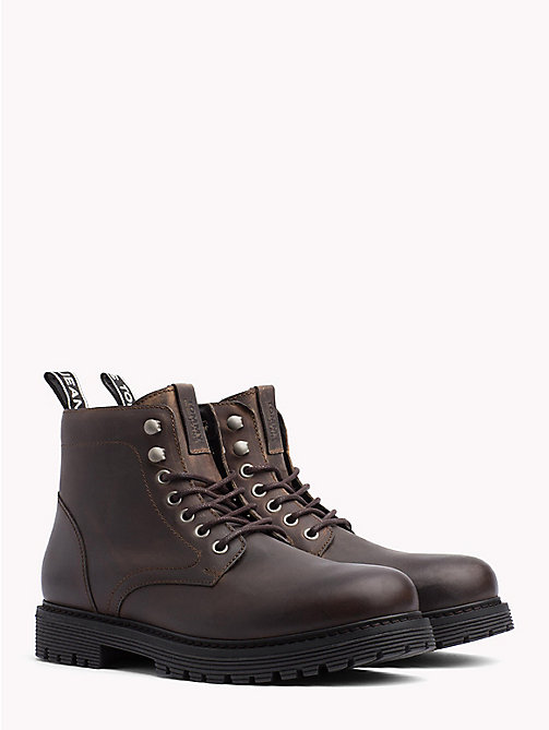 TOMMY JEANS Tommy Jeans Lace-Up Boots - WINTER COGNAC -  Shoes & Accessories - main image