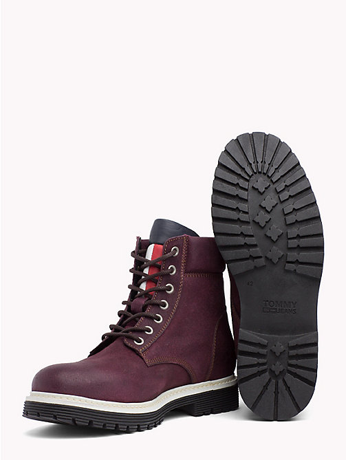 TOMMY JEANS Worker-Boot aus Wildleder - DECADENT CHOCOLATE - TOMMY JEANS Schuhe & Accessoires - main image 1