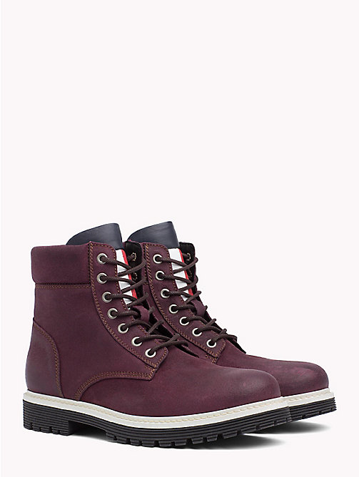 TOMMY JEANS Bottines à lacets en daim - DECADENT CHOCOLATE - TOMMY JEANS VACANCES - image principale