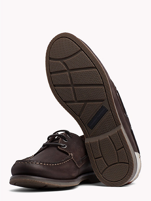 TOMMY JEANS Winter Boat Shoes - COFFEEBEAN - TOMMY JEANS Loafers & Boat Shoes - detail image 1
