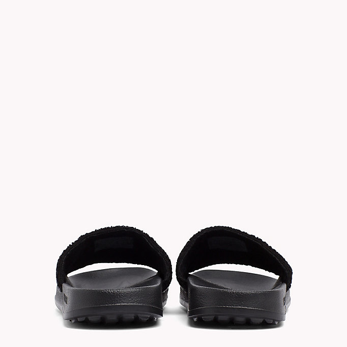TOMMY JEANS Embroidered Terry Beach Sliders - BLACK IRIS - TOMMY JEANS Men - detail image 2