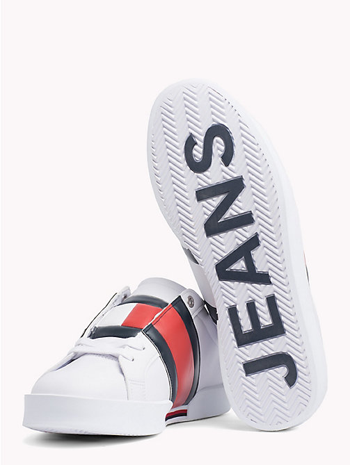 TOMMY JEANS Flag Retro Light Trainers - WHITE - TOMMY JEANS Shoes & Accessories - detail image 1