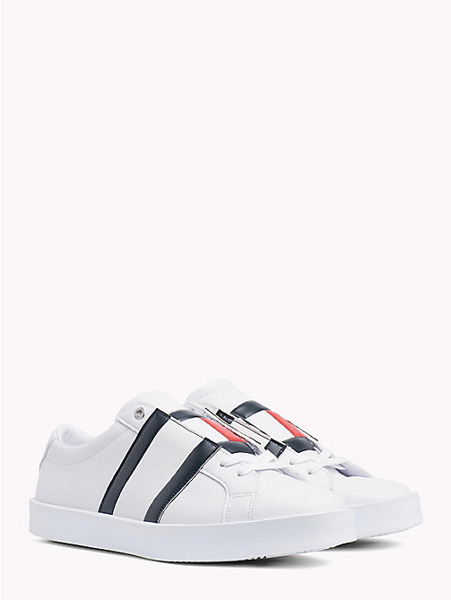 TOMMY JEANS Flag Retro Light Trainers - WHITE - TOMMY JEANS Shoes & Accessories - main image