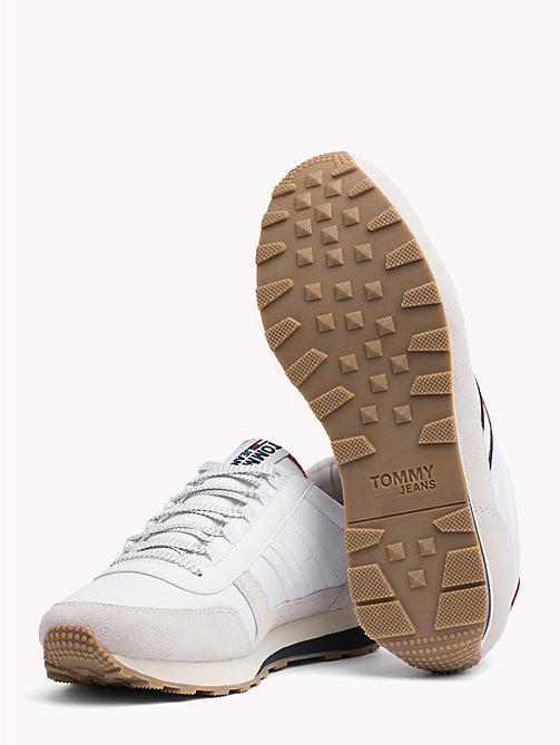 TOMMY JEANS Retro Suede Running Trainers - WHITE - TOMMY JEANS Shoes & Accessories - detail image 1