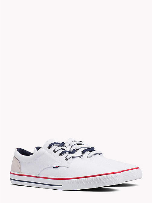 TOMMY JEANS Casual Textile Trainers - WHITE - TOMMY JEANS VACATION - main image