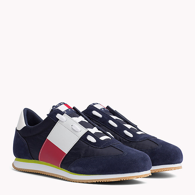 TOMMY JEANS Suede 90s Trainers - BRIGHT WHITE - TOMMY JEANS Men - main image