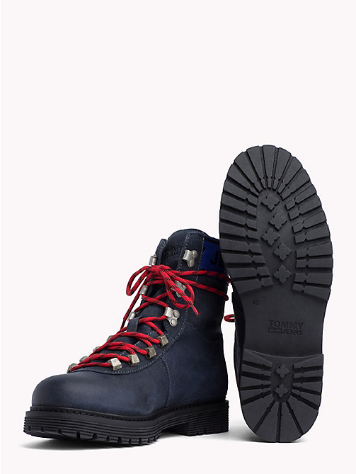 TOMMY JEANS Suede Hiking Boots - INK - TOMMY JEANS Shoes - detail image 1