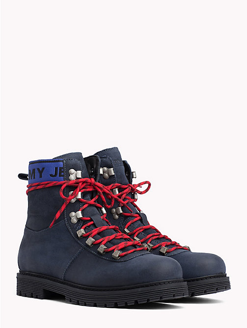 TOMMY JEANS Suede Hiking Boots - INK - TOMMY JEANS Shoes & Accessories - main image