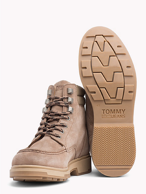 TOMMY HILFIGER Suede Lace-Up Ankle Boots - COBBLESTONE - TOMMY JEANS Shoes & Accessories - detail image 1