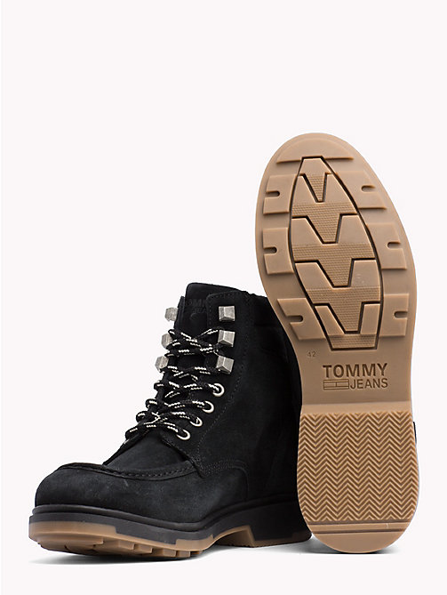 TOMMY JEANS Suede Lace-Up Ankle Boots - BLACK - TOMMY JEANS Shoes & Accessories - detail image 1