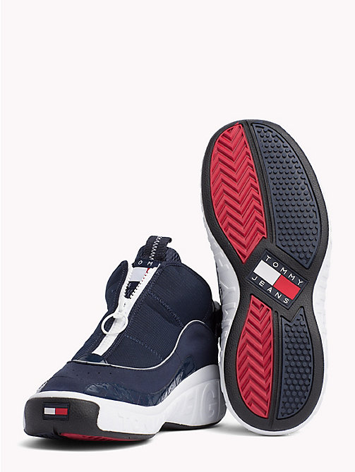 TOMMY JEANS Zip-Up Logo Trainers - INK - TOMMY JEANS Shoes & Accessories - detail image 1