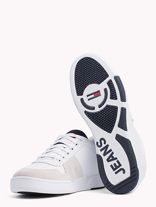 TOMMY JEANS Retro Lace-Up Trainers - WHITE - TOMMY JEANS Shoes & Accessories - detail image 1