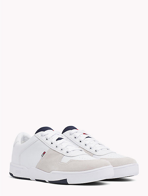 TOMMY JEANS Retro Lace-Up Trainers - WHITE - TOMMY JEANS Shoes & Accessories - main image