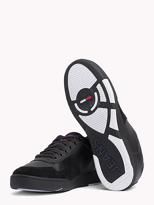 TOMMY JEANS Retro Lace-Up Trainers - BLACK - TOMMY JEANS Shoes & Accessories - detail image 1