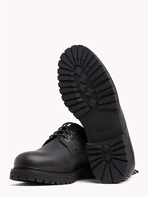 TOMMY JEANS Leather Lace-Up Shoes - MAGNET - TOMMY JEANS VACATION - detail image 1