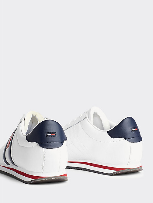 TOMMY JEANS Retro Flag Trainers - WHITE - TOMMY JEANS Shoes & Accessories - detail image 1