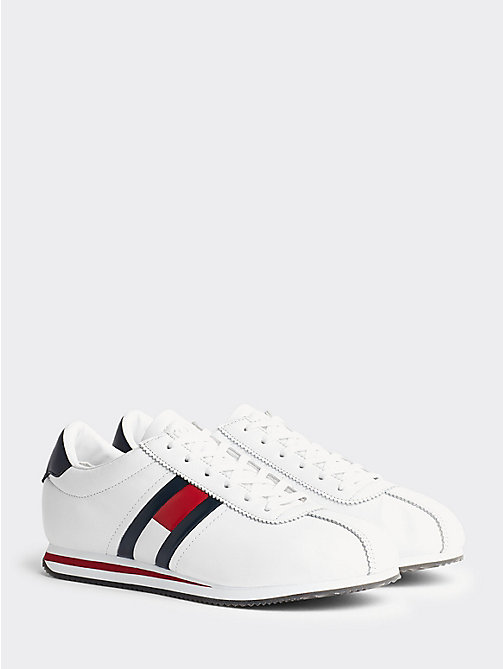 TOMMY JEANS Retro Flag Trainers - WHITE - TOMMY JEANS Shoes & Accessories - main image
