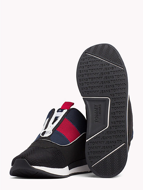 TOMMY JEANS Icon Zip Mesh Trainers - BLACK - TOMMY JEANS VACATION FOR HER - detail image 1