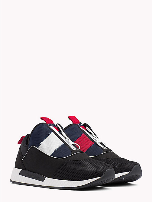 TOMMY JEANS Icon Zip Mesh Trainers - BLACK - TOMMY JEANS VACATION FOR HER - main image