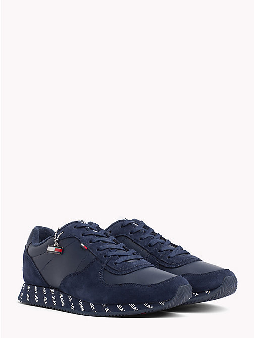 TOMMY JEANS Suede Contrast Trainers - BLACK IRIS - TOMMY JEANS NEW IN - main image