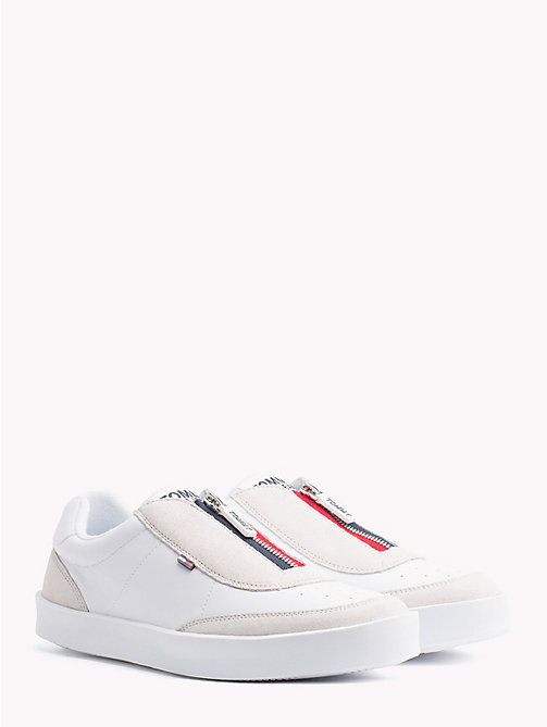 TOMMY JEANS Lightweight Zip-Up Trainers - WHITE - TOMMY JEANS NEW IN - main image