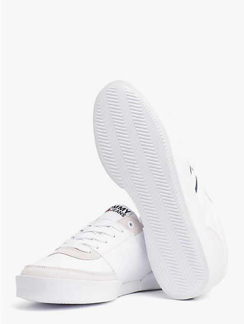 TOMMY JEANS Lightweight Colour-Blocked Trainers - WHITE - TOMMY JEANS Shoes & Accessories - detail image 1