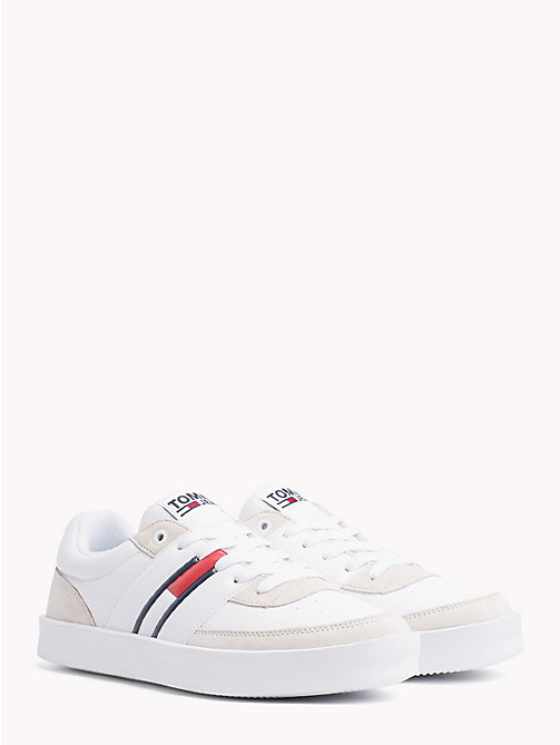 TOMMY JEANS Lightweight Colour-Blocked Trainers - WHITE - TOMMY JEANS Shoes & Accessories - main image