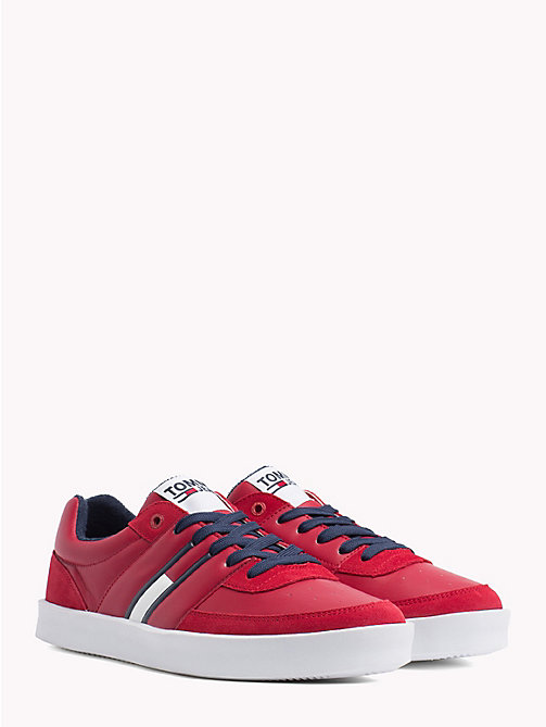 TOMMY JEANS Lightweight Colour-Blocked Trainers - SCARLET SAGE - TOMMY JEANS NEW IN - main image