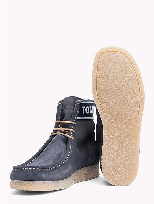 TOMMY JEANS Suede Ankle Wallaby Boots - INK - TOMMY JEANS Shoes & Accessories - detail image 1