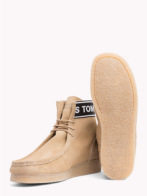 TOMMY JEANS Suede Ankle Wallaby Boots - SAND - TOMMY JEANS Shoes - detail image 1
