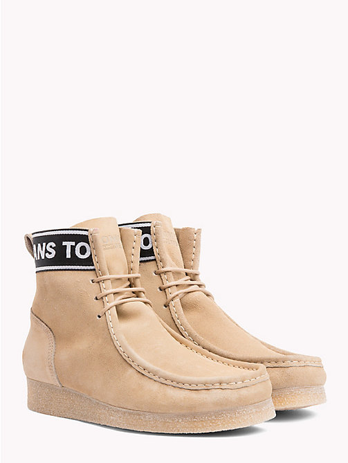 TOMMY JEANS Suede Ankle Wallaby Boots - SAND - TOMMY JEANS Shoes - main image