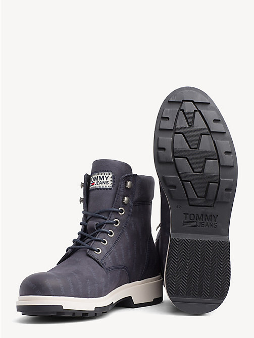 TOMMY JEANS Repeat Logo Nubuck Boots - INK - TOMMY JEANS NEW IN - detail image 1