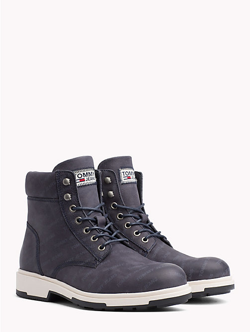 TOMMY JEANS Repeat Logo Nubuck Boots - INK - TOMMY JEANS Sustainable Evolution - main image