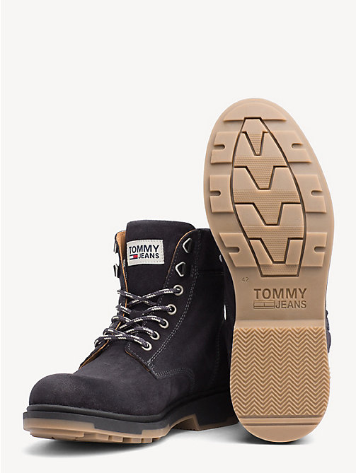 TOMMY JEANS Pure Suede Logo Ankle Boots - MAGNET - TOMMY JEANS Sustainable Evolution - detail image 1