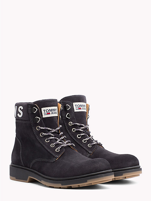 TOMMY JEANS Pure Suede Logo Ankle Boots - MAGNET - TOMMY JEANS Sustainable Evolution - main image