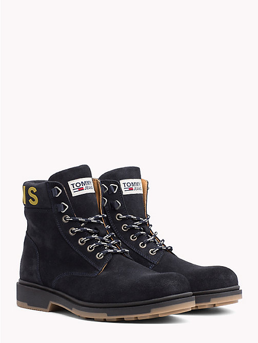TOMMY JEANS Pure Suede Logo Ankle Boots - BLACK IRIS - TOMMY JEANS NEW IN - main image