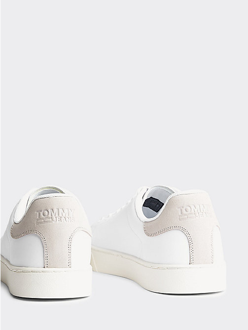 TOMMY JEANS Essential Leather Trainers - WHITE - TOMMY JEANS Shoes & Accessories - detail image 1