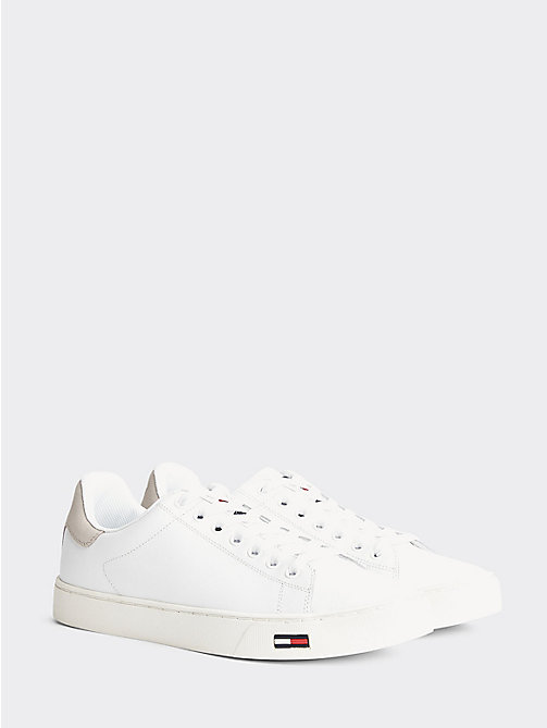 TOMMY JEANS Essential Leather Trainers - WHITE - TOMMY JEANS Shoes & Accessories - main image