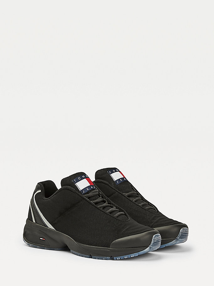 black heritage reflective trainers for men tommy jeans