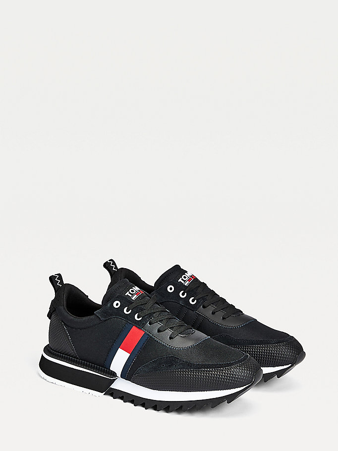 black the cleat trainers for men tommy jeans