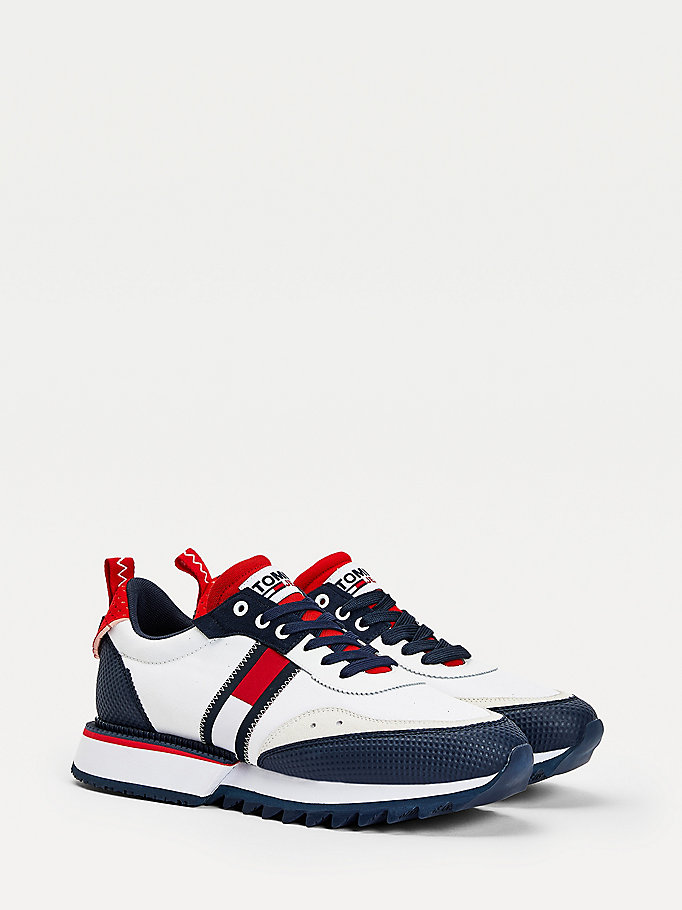 blauw the cleat sneakers voor men - tommy jeans