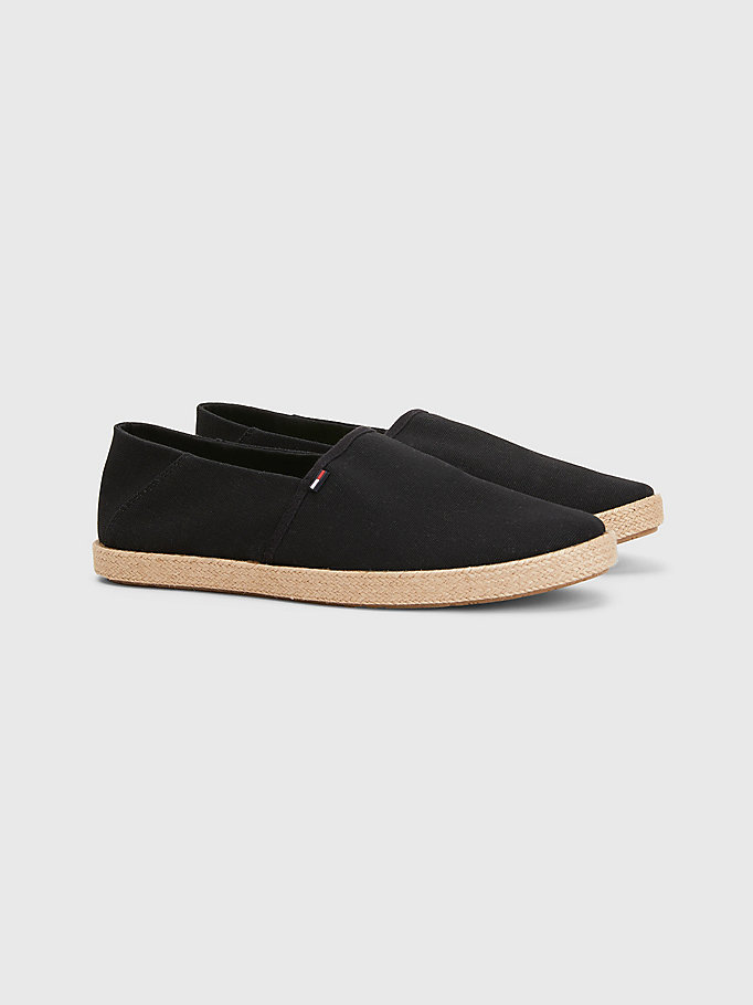 black essential espadrilles for men tommy jeans