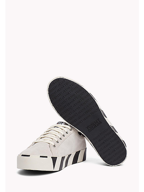 TOMMY JEANS Stripe Platform Suede Trainers - ICE - TOMMY JEANS Tommy Jeans Shoes - detail image 1