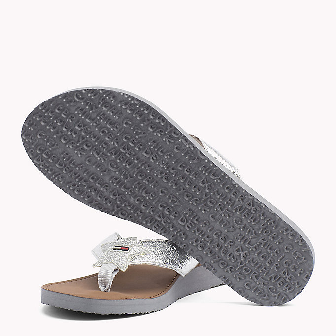 TOMMY JEANS Chanclas de playa metalizadas - LIGHT GOLD - TOMMY JEANS Zapatos - imagen detallada 1